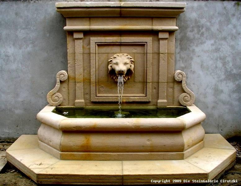 wandbrunnen stein